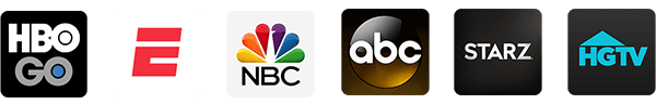 Access apps like, HBO GO, ESPN, NBC, ABC, STARZ, HGTV, and more.
