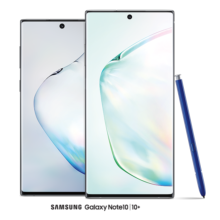 The Samsung Galaxy Note10 and Note10+