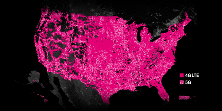 T-Mobile's coverage