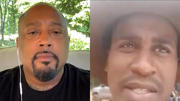 Split screen of Daymond video chatting with a young man