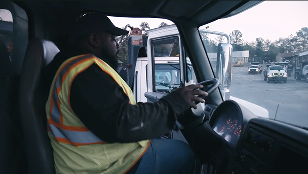 Truck driver working