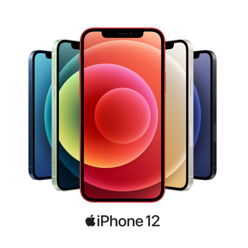 iPhone 12 in a variety of colors
