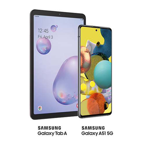 Samsung Galaxy Tab A and Samsung Galaxy A51 5G