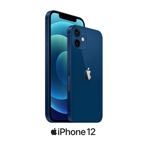 iPhone 12 and iPhone 12 mini in blue