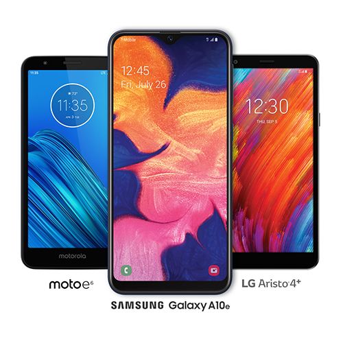 Samsung Galaxy A10e and LG Aristo 4+