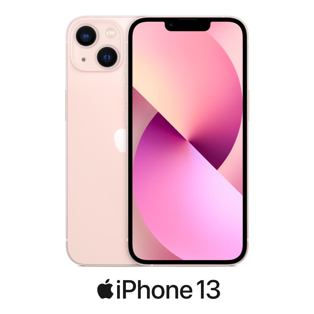 iPhone 13 en rosa, vista frontal y posterior