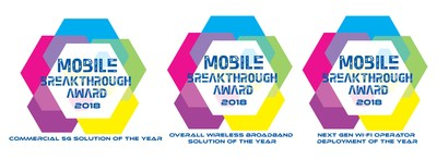 Sprint wins three 2018 Mobile Breakthrough Awards for Massive MIMO and SpiderCloud solutions.