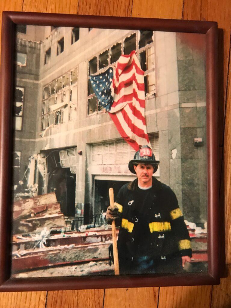 Retired FDNY's John Ryan at Ground Zero